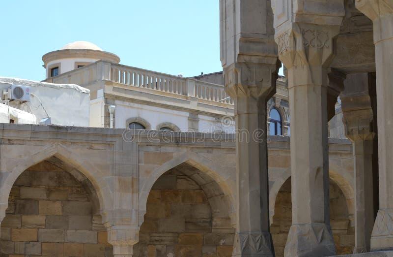 Palais du Shirvanshahs dans la vieille ville de Bakou, capitale de l'Azerbaïdjan images libres de droits