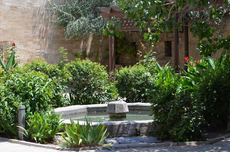 Palais du Shirvanshahs dans la vieille ville de Bakou, capitale de l'Azerbaïdjan photographie stock