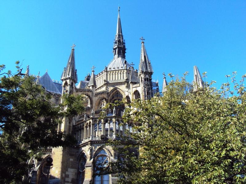 Palais du Tau Reims Reims Cathedral imagen de archivo libre de regalías
