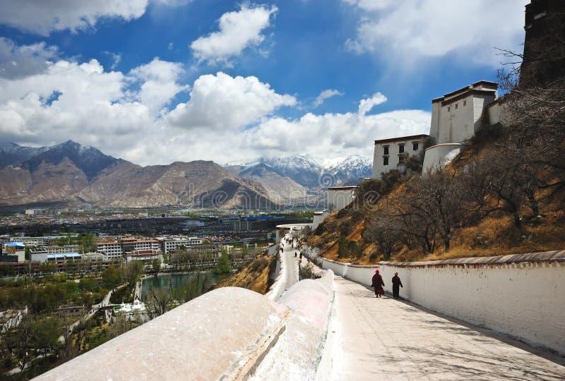 Palais du Thibet Potala image libre de droits