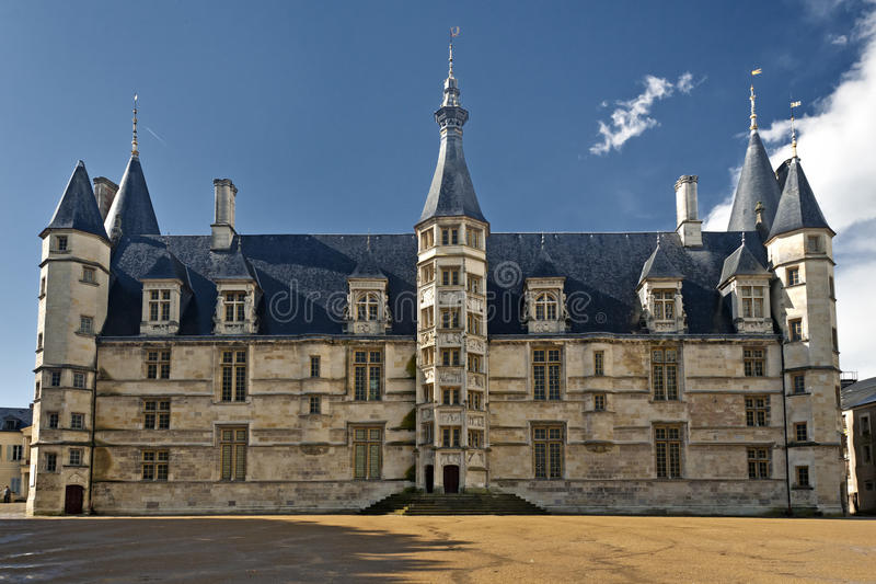 Palais Ducal from Nevers, France stock photos