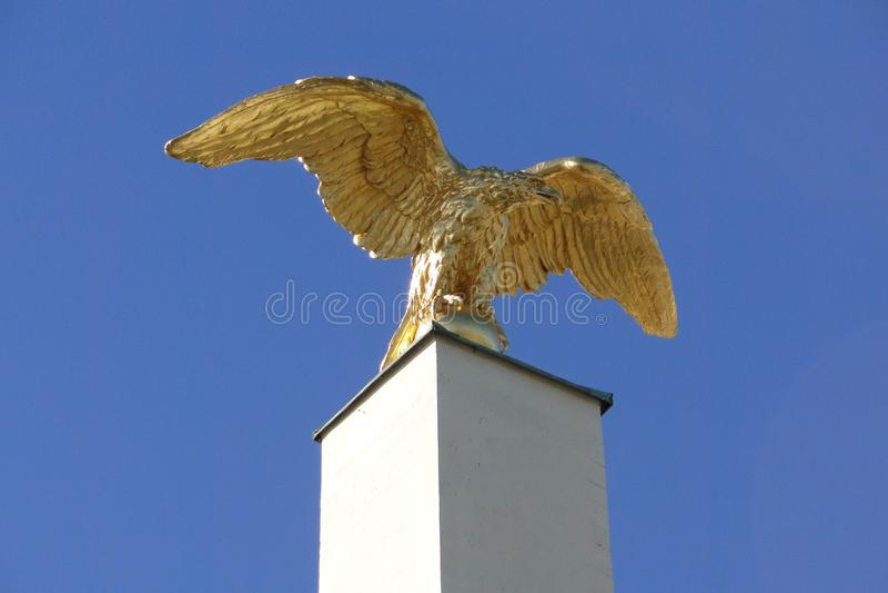 Palais Eagle d'or de Schonbrunn photographie stock libre de droits
