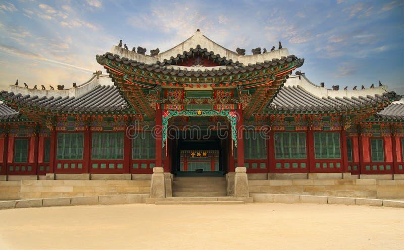 Palais en Corée du Sud images stock