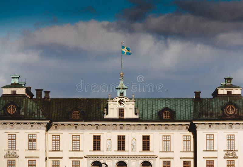 Palais Estocolmo Palacio de Drottningholm vrai photographie stock libre de droits