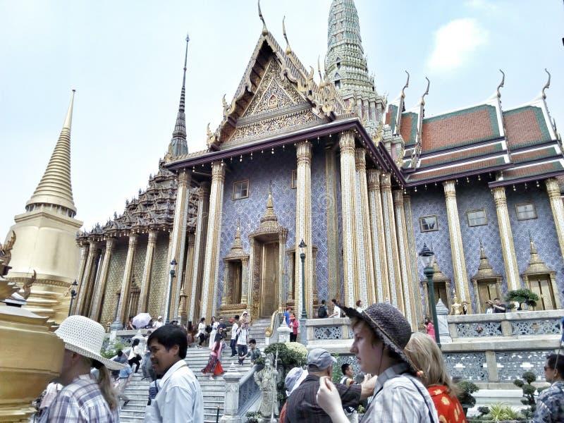 Palais et Emerald Buddha grands royaux photographie stock libre de droits