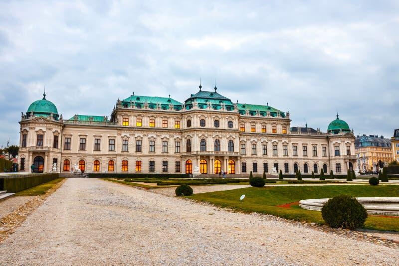 Palais et jardin de belvédère à Vienne photo libre de droits