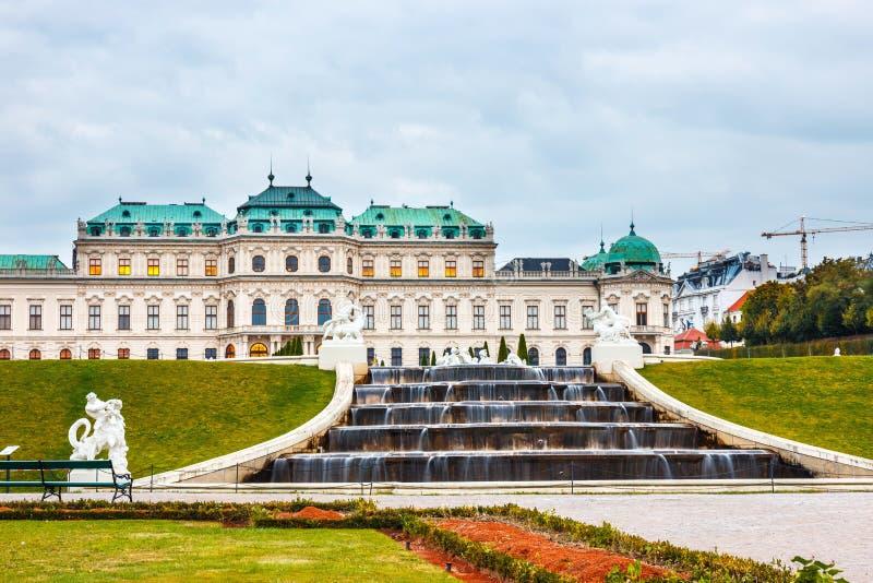 Palais et jardin de belvédère à Vienne image stock