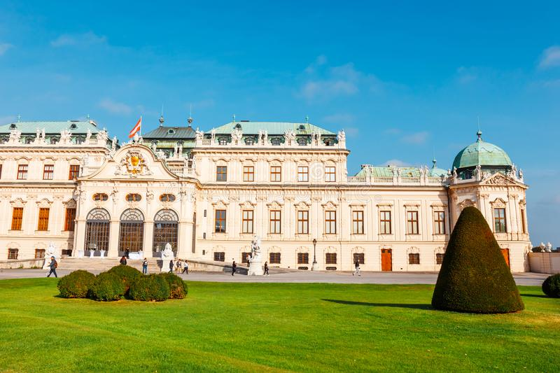Palais et jardin de belvédère à Vienne Le palais principal - belvédère supérieur l'autriche photo stock