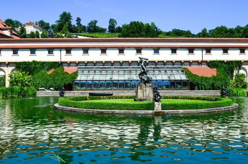 Palais et jardin de Wallenstein images stock