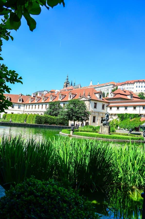 Palais et jardin de Wallenstein image libre de droits