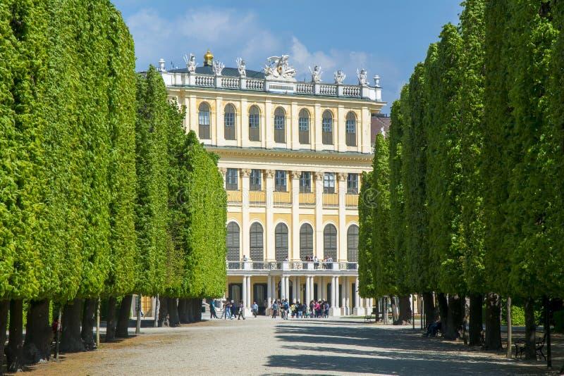 Palais et jardins de Schonbrunn à Vienne, Autriche image stock