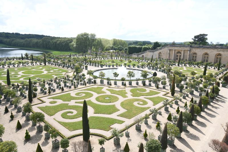 Palais et stationnement de Versailles, France photos libres de droits
