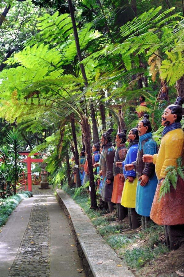 Palais Gardenâ tropical Monte, Madère de Monte photographie stock libre de droits