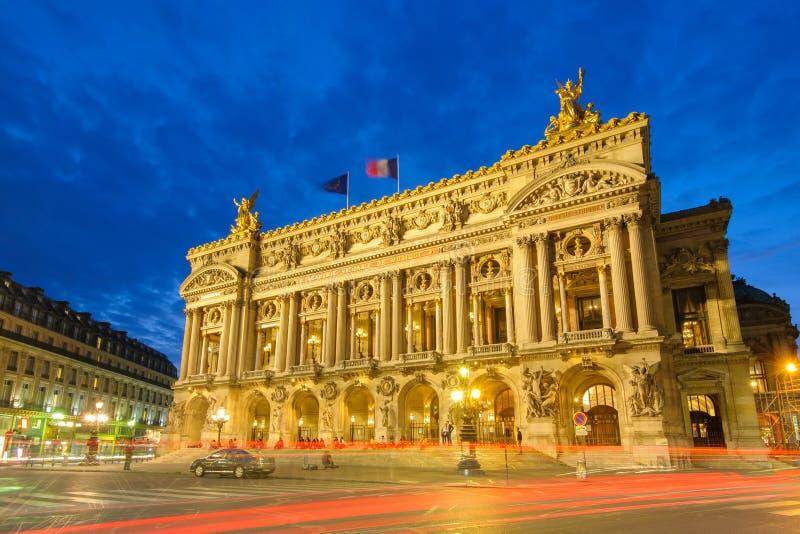 Palais Garnier,歌剧在巴黎 免版税库存图片