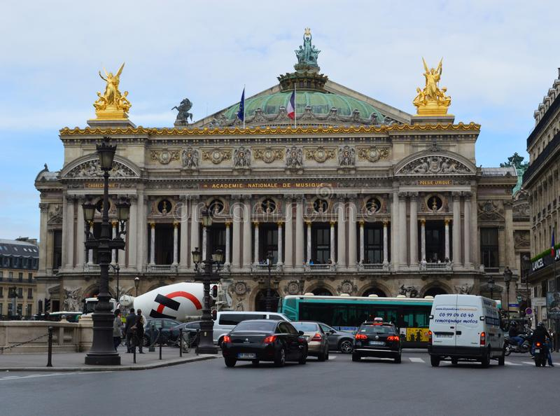Palais Garnier,歌剧巴黎法国 图库摄影
