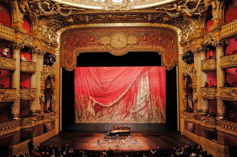 Palais Garnier, ópera de nacional París fotos de archivo