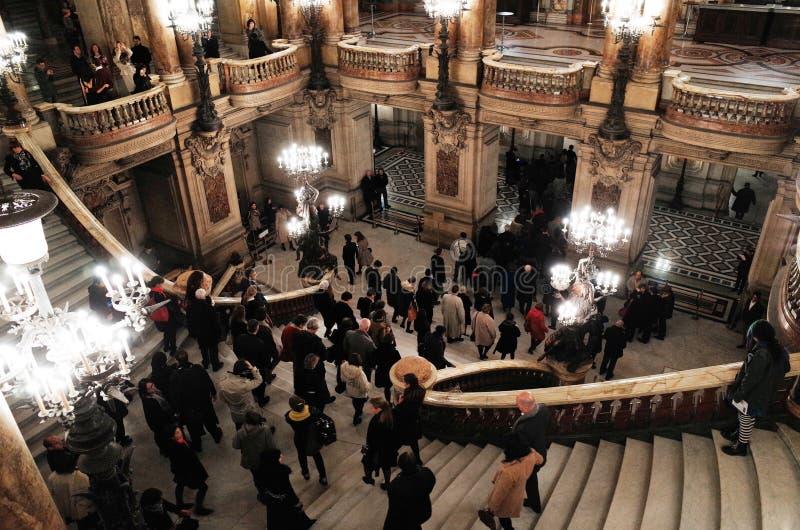 Palais Garnier, ópera de nacional París imagen de archivo