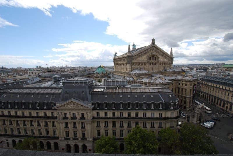 Palais Garnier, niebo, punkt zwrotny, miasto, buduje obrazy stock