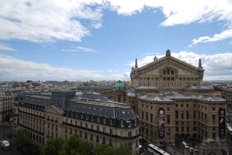 Palais Garnier, niebo, punkt zwrotny, miasto, miasteczko fotografia royalty free