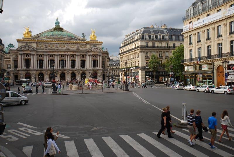 Palais Garnier, obszar miejski, punkt zwrotny, rynek, miasto zdjęcia stock