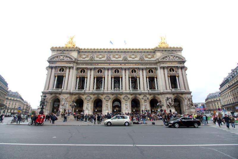 Palais Garnier Paris Frankrike royaltyfria foton