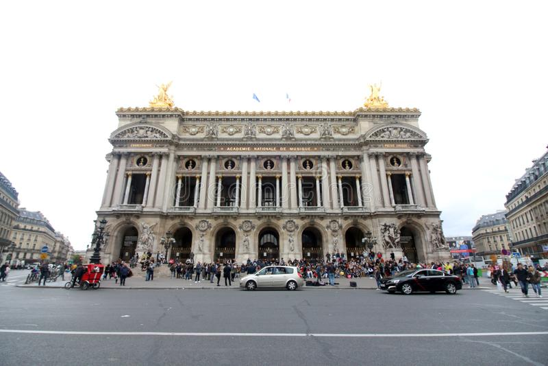 Palais Garnier, Paryski Francja zdjęcia royalty free