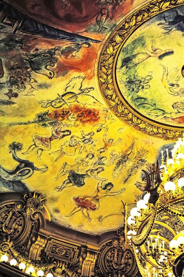 Palais Garnier, ?pera de nacional Par?s imagen de archivo