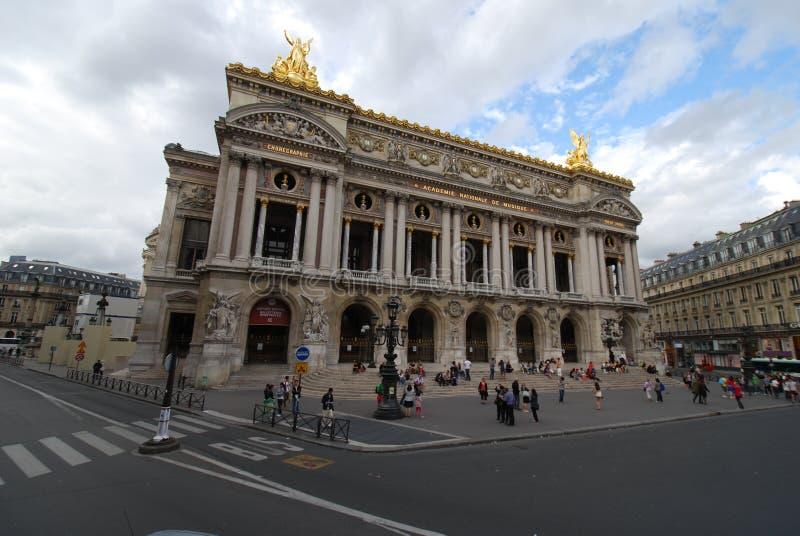Palais Garnier, punkt zwrotny, obszar wielkomiejski, rynek, niebo obraz royalty free