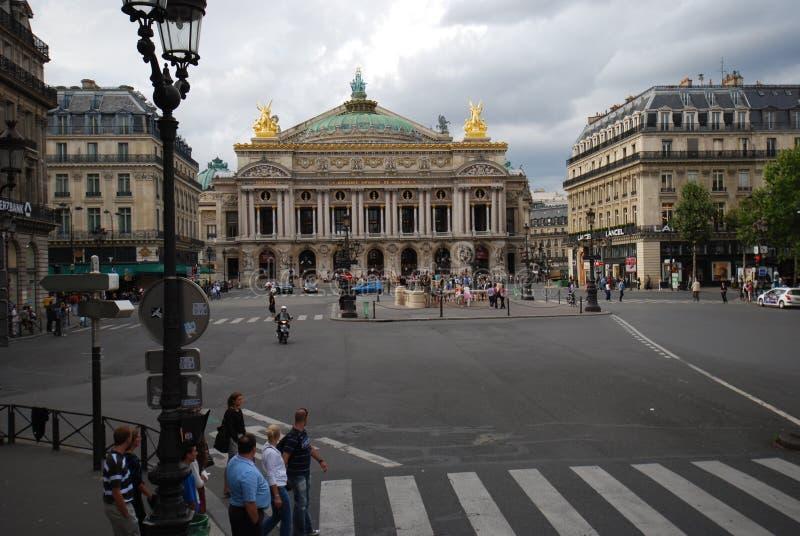 Palais Garnier, punkt zwrotny, rynek, obszar miejski, miasto obrazy royalty free