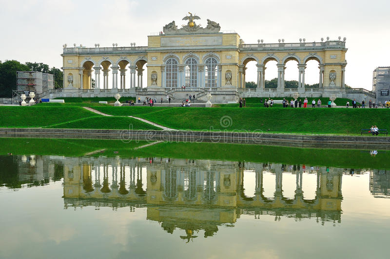 Palais Gloriette de Schonbrunn photo stock