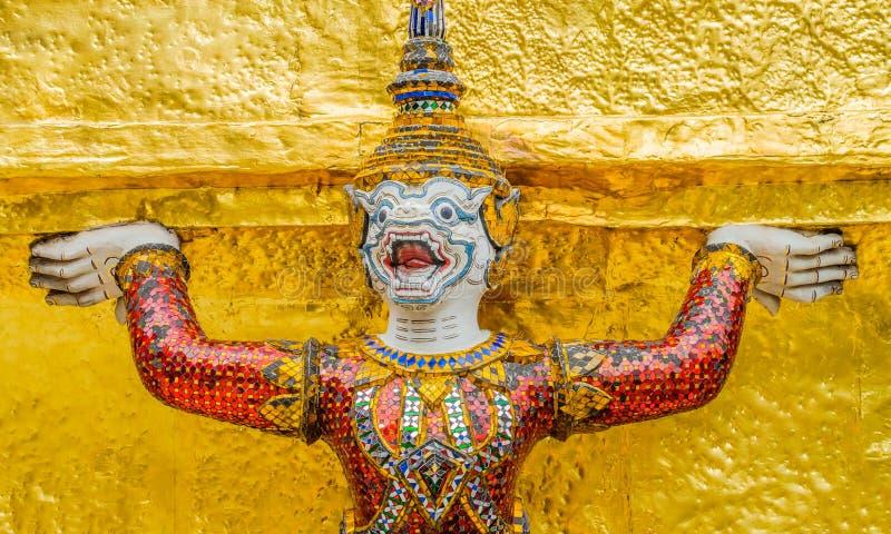 Palais grand Bangkok de Wat Phra Kaew de gardien de démon photo libre de droits