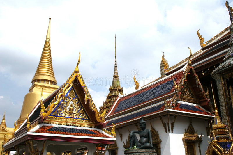 Palais grand - Thaïlande photographie stock