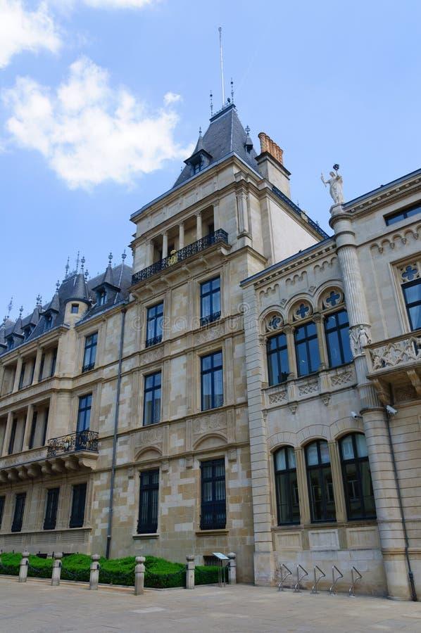 Palais Groothertogelijk In De Stad Van Luxemburg Stock Foto