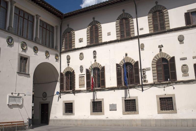Palais historique dans Pieve Santo Stefano images libres de droits