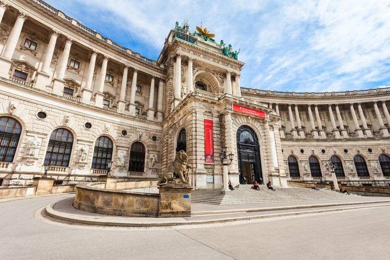Palais impérial de Hofburg, Vienne images libres de droits
