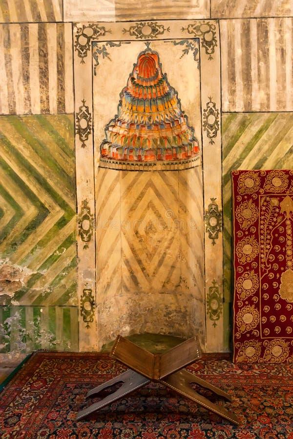 Palais intérieur de bel intérieur de Bakhchisaray, Crimée image libre de droits