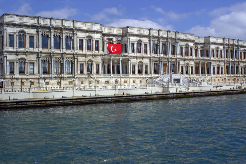 Palais Kempinski Istanbul de Ciragan photographie stock libre de droits