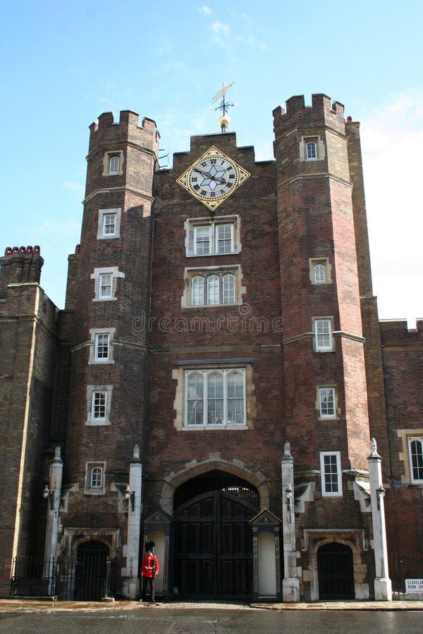 Palais Londres de rue James images libres de droits
