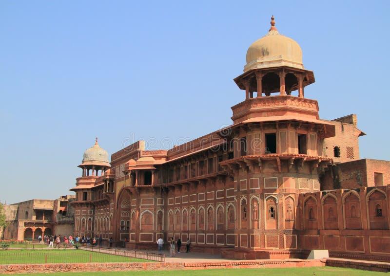 Palais mahal de Jahangiri dans le fort d'Âgrâ image stock