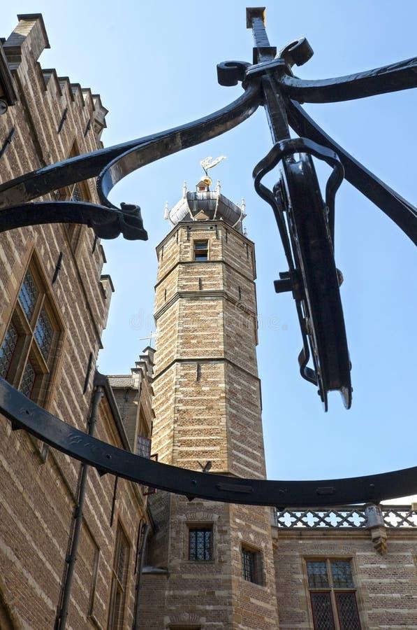Palais Markiezenhof de ville antique dans le bourdonnement op de Bergen images libres de droits