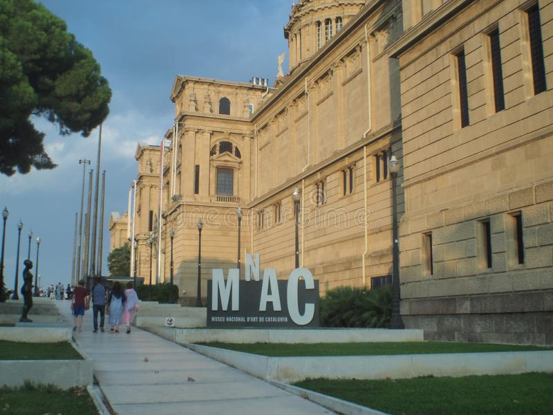 Palais Montjuic Barcelone image stock