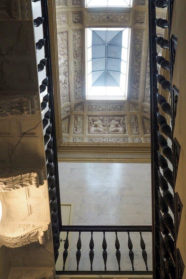 Palais néoclassique de villa Torlonia à Rome, Italie images stock