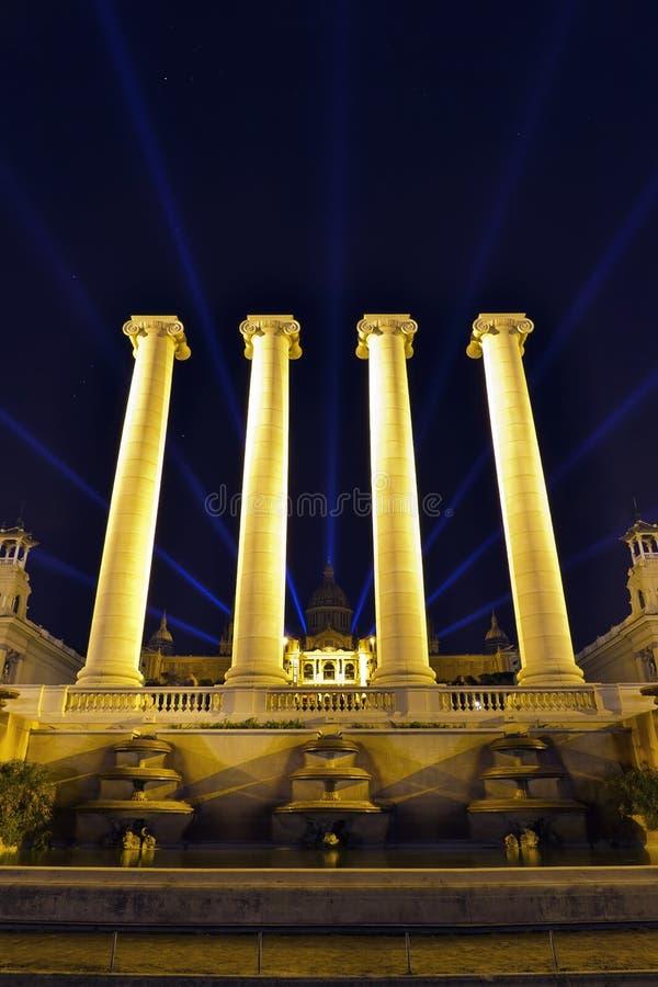 Palais national de Barcelone image libre de droits