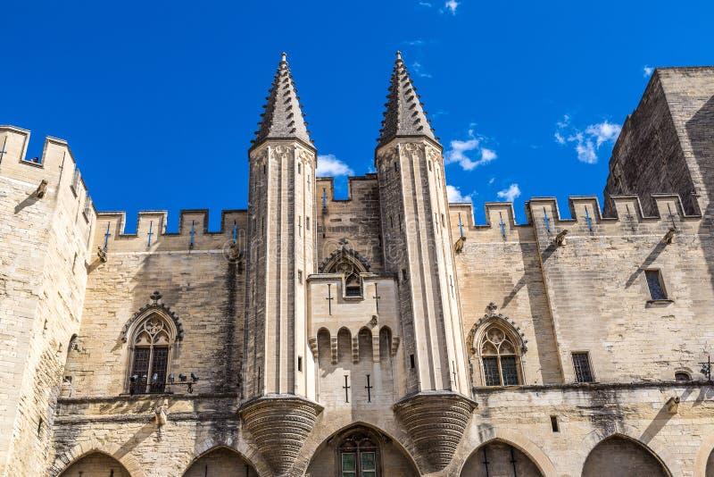 Palais papal à Avignon photo stock