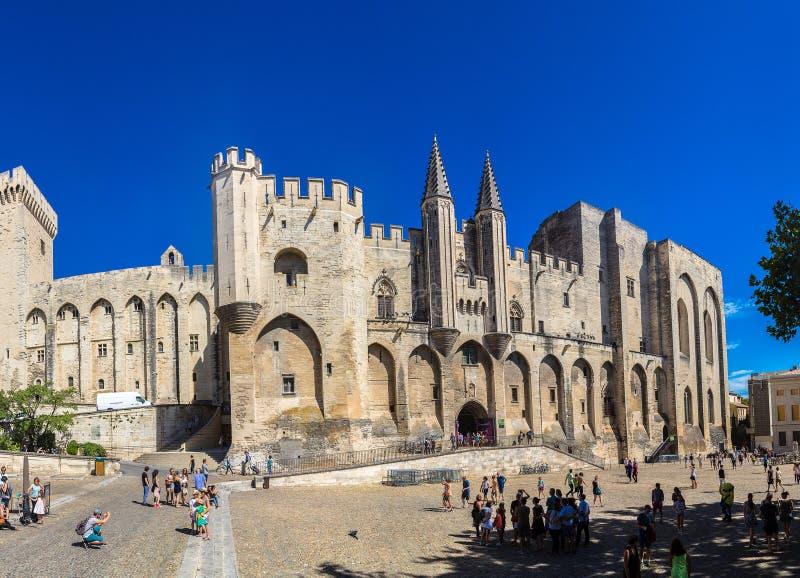 Palais papal d'Avignon images libres de droits