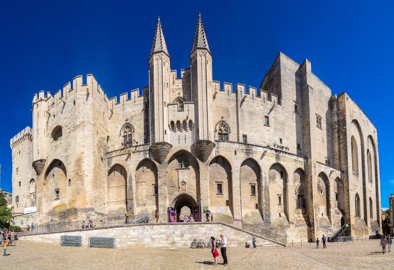 Palais papal d'Avignon image libre de droits