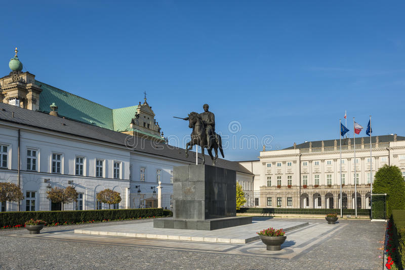 Palais présidentiel à Varsovie, Pologne photo stock