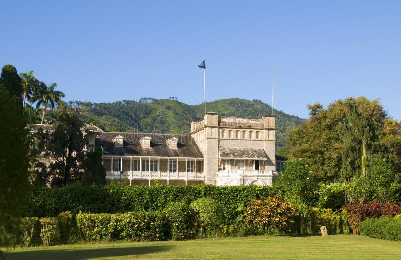 Palais présidentiel Trinidad et Tobago photographie stock