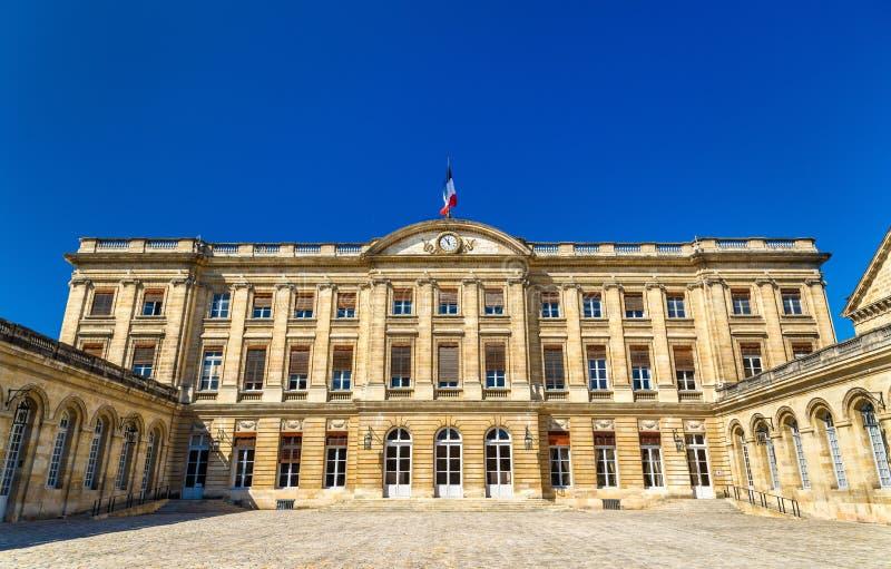 Palais Rohan, здание муниципалитет Бордо - Франции стоковые изображения rf