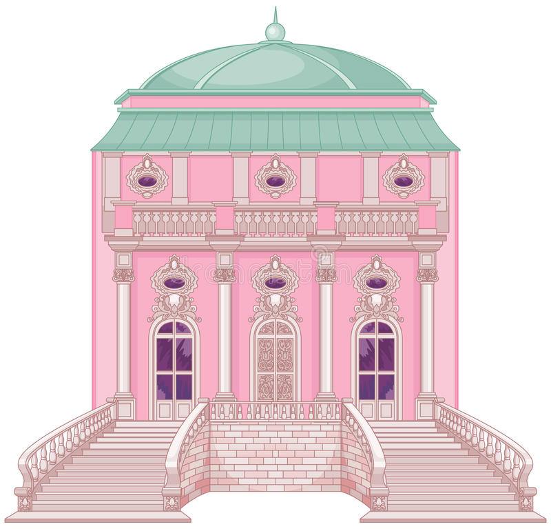 Palais romantique pour une princesse illustration stock